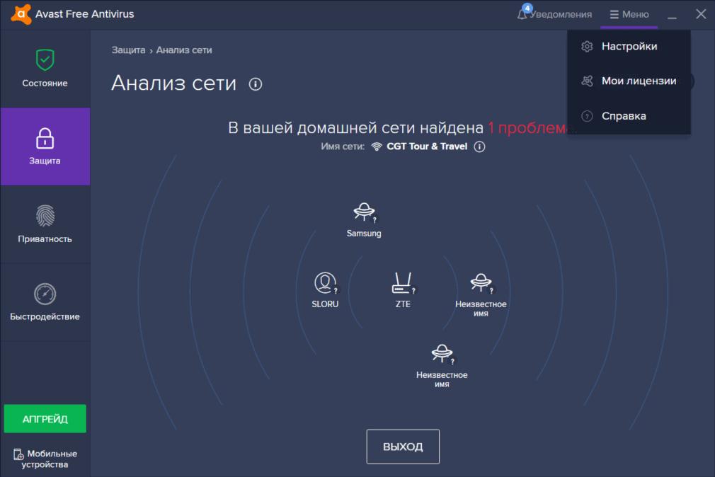 Новая карта сети в функции анализа