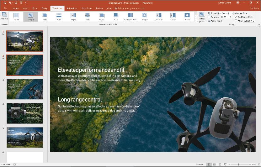 Интерфейс Microsoft Office 2019