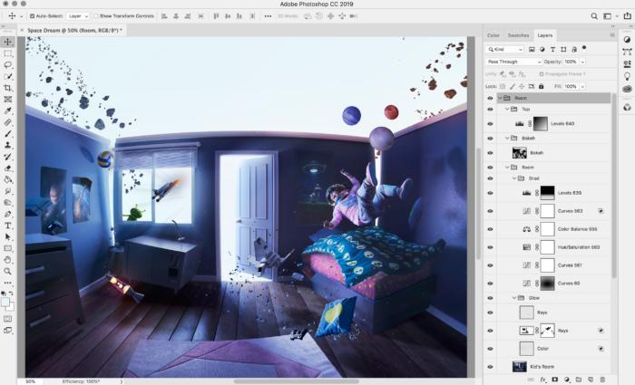 Интерфейс Photoshop на iPad