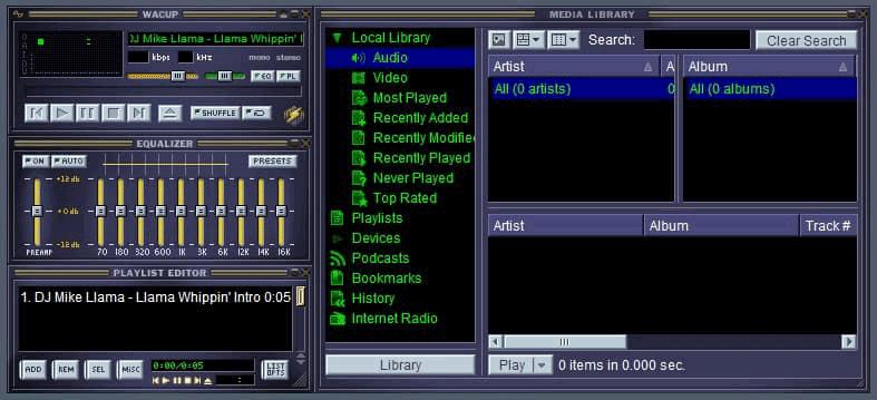 Интерфейс Winamp из WACUP