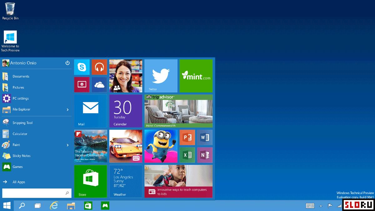 Windows 10 technical preview (русская версия). Скачать.